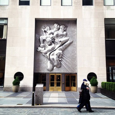 Isamu Noguchi at Rockefeller Center