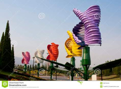 Colorful turbines
