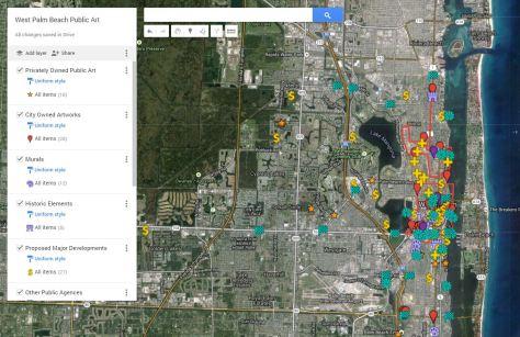 West Palm Beach Google Public Art Map