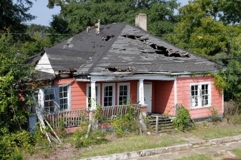 The burned house in York Alabama